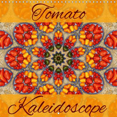 Tomato Kaleidoscope (Wall Calendar 2019 300 × 300 mm Square), Martina Cross