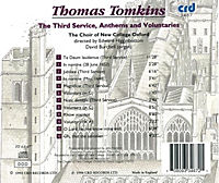 Tomkins:The Third Service,Anthems And Voluntaries - Produktdetailbild 1