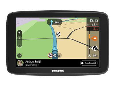TOMTOM GO BASIC EU 6 Zoll 15,24cm 48 Länder Wi-Fi Bluetooth Lebenslang Karten-Update Echtzeit TT Traffic via Smartphone