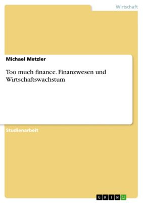 Too much finance. Finanzwesen und Wirtschaftswachstum, Michael Metzler