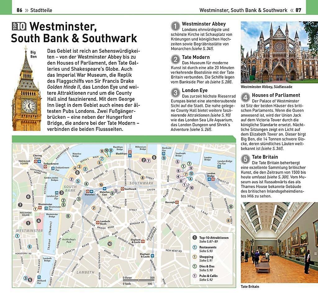Karte London Stadtteile.Top 10 Reisefuhrer London M 1 Karte Buch Weltbild Ch