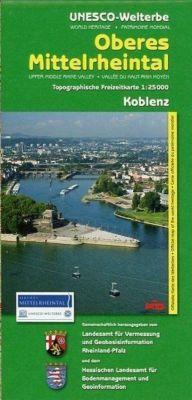 Topographische Freizeitkarte Rheinland-Pfalz Oberes Mittelrheintal, Koblenz; Upper Middle Rhine Valley, Koblenz; Vallee