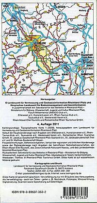 Topographische Freizeitkarte Rheinland-Pfalz Oberes Mittelrheintal, Koblenz; Upper Middle Rhine Valley, Koblenz; Vallee - Produktdetailbild 1