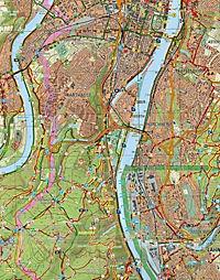 Topographische Freizeitkarte Rheinland-Pfalz Oberes Mittelrheintal, Koblenz; Upper Middle Rhine Valley, Koblenz; Vallee - Produktdetailbild 2