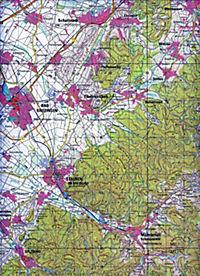 Topographische Karte Baden-Württemberg, Zivilmilitärische Ausgabe - Freiburg im Breisgau Süd - Produktdetailbild 1