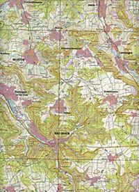 Topographische Karte Baden-Württemberg Bad Urach - Produktdetailbild 2