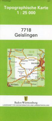 Topographische Karte Baden-Württemberg Geislingen -  pdf epub