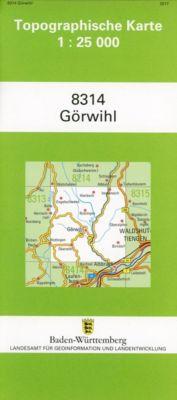 Topographische Karte Baden-Württemberg Görwihl -  pdf epub