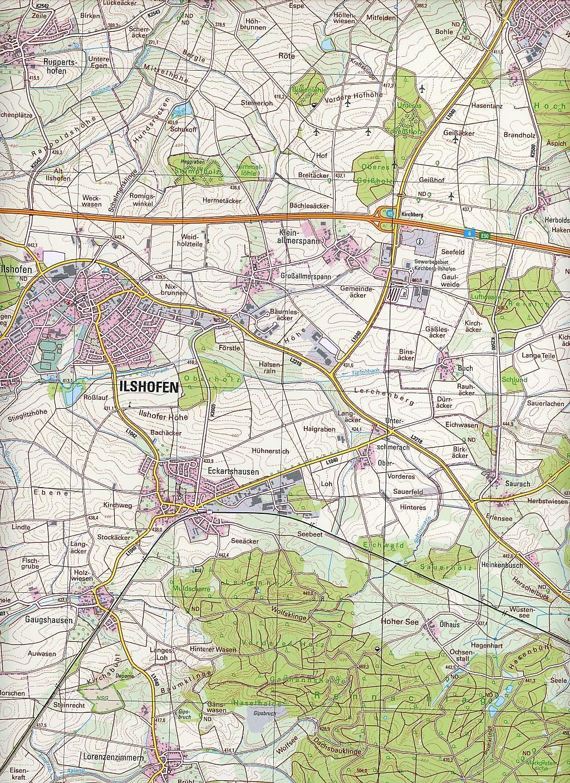 Topographische Karte Thüringen.Topographische Karte Baden Württemberg Ilshofen Buch Weltbild De