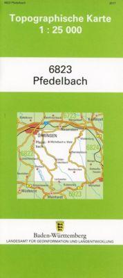 Topographische Karte Baden-Württemberg Pfedelbach -  pdf epub
