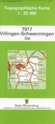 Topographische Karte Baden-Württemberg Villingen-Schwenningen, Ost -  pdf epub