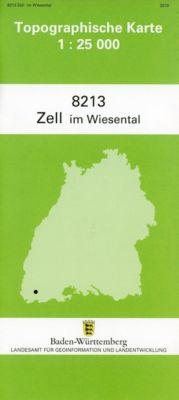 Topographische Karte Baden-Württemberg Zell im Wiesental -  pdf epub
