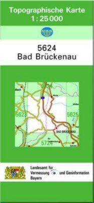Topographische Karte Bayern Bad Brückenau, Breitband und Vermessung, Bayern Landesamt für Digitalisierung