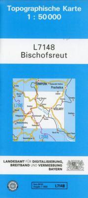Topographische Karte Bayern Bischofsreut - Breitband und Vermessung, Bayern Landesamt für Digitalisierung  