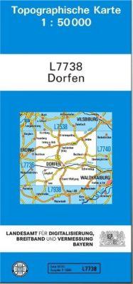 Topographische Karte Bayern Dorfen, Breitband und Vermessung, Bayern Landesamt für Digitalisierung