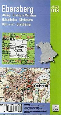 Topographische Karte Bayern Ebersberg - Produktdetailbild 1