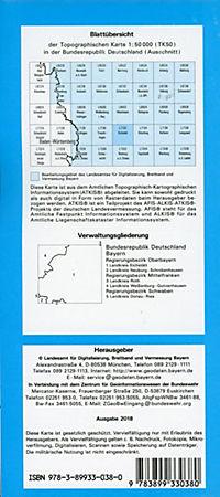 Topographische Karte Bayern Eichstätt - Produktdetailbild 1