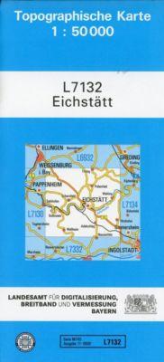 Topographische Karte Bayern Eichstätt, Breitband und Vermessung, Bayern Landesamt für Digitalisierung