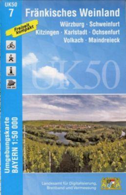Topographische Karte Bayern Fränkisches Weinland - Breitband und Vermessung, Bayern, Landesamt für Digitalisierung |