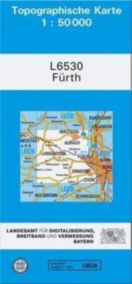 Topographische Karte Bayern Fürth, Breitband und Vermessung, Bayern Landesamt für Digitalisierung