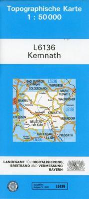 Topographische Karte Bayern Kemnath - Breitband und Vermessung, Bayern Landesamt für Digitalisierung |