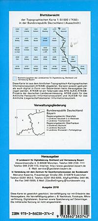 Topographische Karte Bayern Kemnath - Produktdetailbild 1