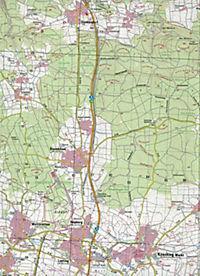Topographische Karte Bayern Kösching - Produktdetailbild 2