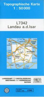 Topographische Karte Bayern Landau a. d. Isar - Breitband und Vermessung, Bayern Landesamt für Digitalisierung |
