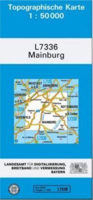 Topographische Karte Bayern Mainburg