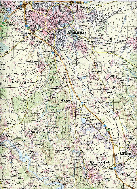Topographische Karte Bayern Memmingen Buch Versandkostenfrei