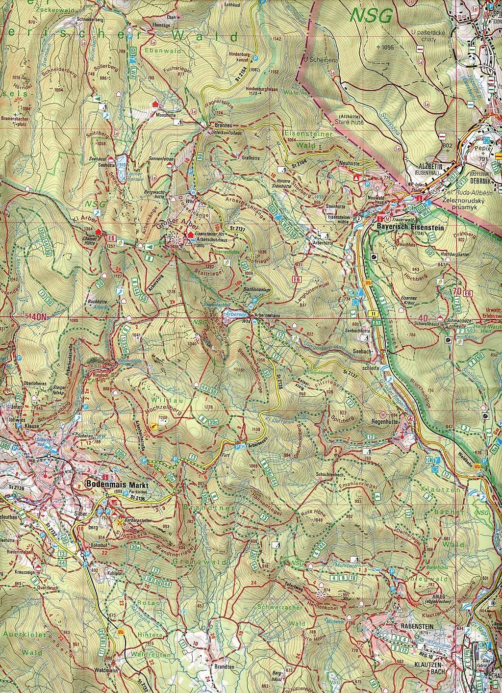 Nationalpark Bayerischer Wald Karte.Topographische Karte Bayern Nationalpark Bayerischer Wald Ost Buch