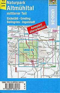 Topographische Karte Bayern Naturpark Altmühltal, mittlerer Teil - Produktdetailbild 1