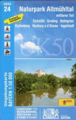 Topographische Karte Bayern Naturpark Altmühltal mittlerer Teil - Breitband und Vermessung, Bayern, Landesamt für Digitalisierung  