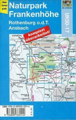 Topographische Karte Bayern Naturpark Frankenhöhe