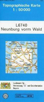 Topographische Karte Bayern Neunburg vorm Wald - Breitband und Vermessung, Bayern Landesamt für Digitalisierung |