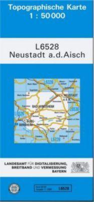 Topographische Karte Bayern Neustadt a. d. Aisch