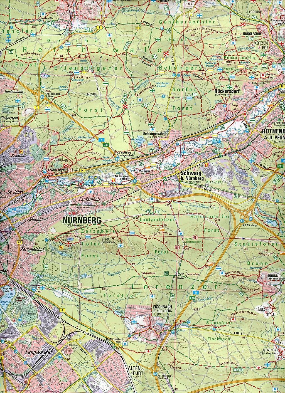 Topographische Karte Bayern.Topographische Karte Bayern Nürnberger Land Frankenalb Buch