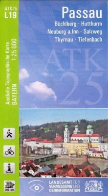 Topographische Karte Bayern Passau, Breitband und Vermessung, Bayern Landesamt für Digitalisierung