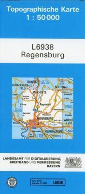 Topographische Karte Bayern Regensburg, Breitband und Vermessung, Bayern Landesamt für Digitalisierung