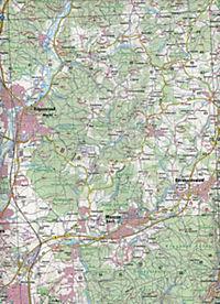 Topographische Karte Bayern Regensburg - Produktdetailbild 2
