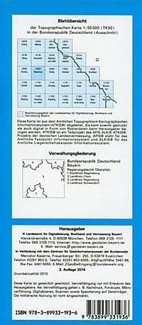 Topographische Karte Bayern Regensburg - Produktdetailbild 1