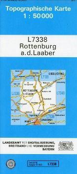 Topographische Karte Bayern Rottenburg a. d. Laaber, Breitband und Vermessung, Bayern Landesamt für Digitalisierung