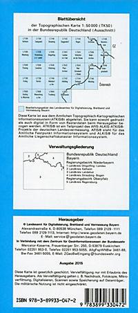 Topographische Karte Bayern Rottenburg a. d. Laaber - Produktdetailbild 1