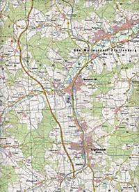 Topographische Karte Bayern Rottenburg a. d. Laaber - Produktdetailbild 2