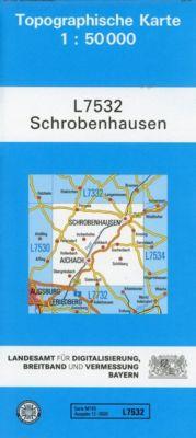 Topographische Karte Bayern Schrobenhausen, Breitband und Vermessung, Bayern Landesamt für Digitalisierung