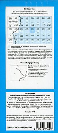 Topographische Karte Bayern Schrobenhausen - Produktdetailbild 1