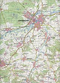 Topographische Karte Bayern Schrobenhausen - Produktdetailbild 2