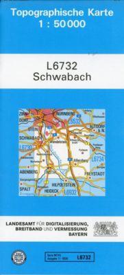 Topographische Karte Bayern Schwabach - Breitband und Vermessung, Bayern Landesamt für Digitalisierung |