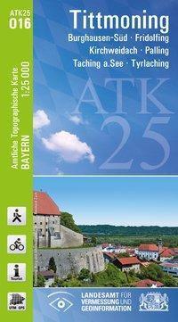 Topographische Karte Bayern Tittmoning, Breitband und Vermessung, Bayern Landesamt für Digitalisierung