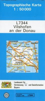 Topographische Karte Bayern Vilshofen